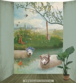 Behang Schapen <-190 cm->