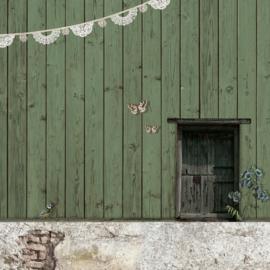 Schuttingdoek 180x180 cm - houten schutting - mint