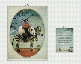 "Panda ""licht"" poster 30x40 cm met gedicht"
