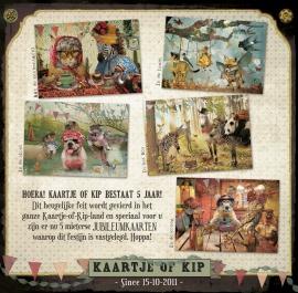Jubileumkaarten- Set van 5