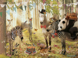 Feest in 't Bos - poster 30x40 cm