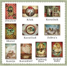 12 Luxe kerstkaarten met envelop uitkiezen