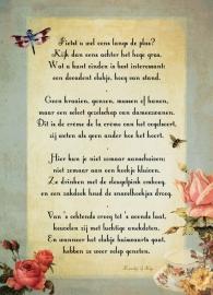 Zwanen poster 30x40 cm met gedicht
