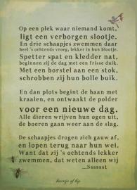 Schaapjes poster 30x40 cm met gedicht