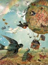 Vogelvlucht poster 30x40 cm met gedicht