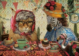 Jubileumkaart 5- Feest aan de keukentafel