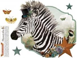 Zebra - muursticker