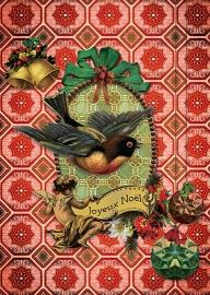 """""""Kerst Zwaluw"""" 4 stuks Luxe kerstkaarten met mooie envelop"""