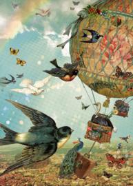 Tuinposter 50x70 cm - vogelvlucht