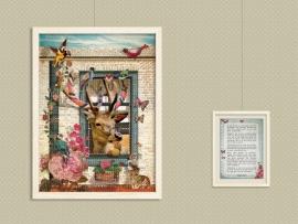 Breihert poster 30x40 cm met gedicht