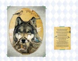 Wolf poster 30x40 cm met gedicht