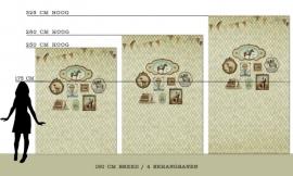 """Behang Wieber """"Licht"""" <-190 cm->"""
