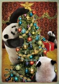 """""""Panda kerst"""" - 8 stuks"""