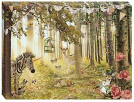 Canvas Dierenbos - 30x40 cm