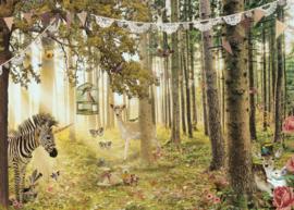 Tuinposter 50x70 cm - dierenbos