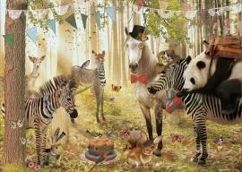 Jubileumkaart 2- Feest in het bos