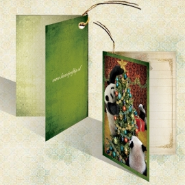 Kerst Kadokaartje - Panda's