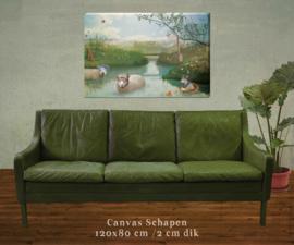 XXL Canvas Schapen - 120x80 cm