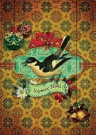 """""""Kerst Ekster"""" 4 stuks Luxe kerstkaarten met mooie envelop"""