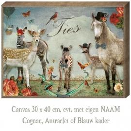 Canvas Zebra jongen - 30x40