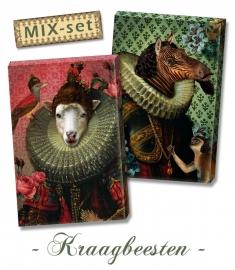 Mix-set ♥ Kraagbeesten 20x30 cm