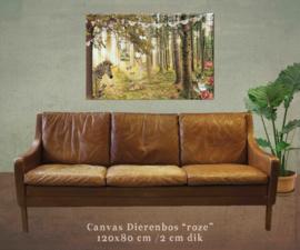 XXL Canvas Dierenbos - 120x80 cm