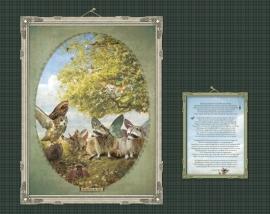 Vliegschool poster 30x40 cm met gedicht