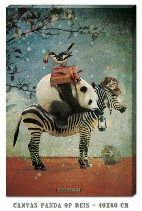 Canvas Panda op Reis - 40x60