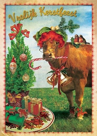 """""""Kerstkoe""""- 8 stuks"""