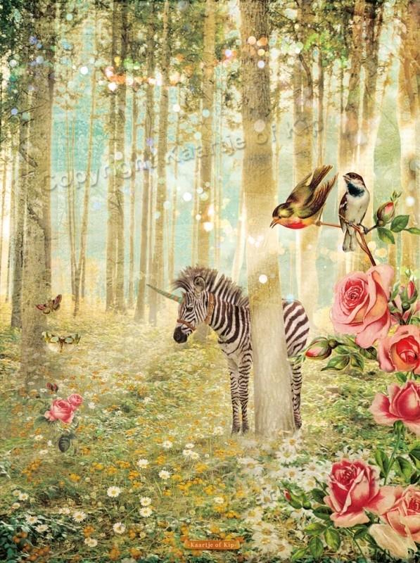 Zebra poster 30x40 cm met gedicht