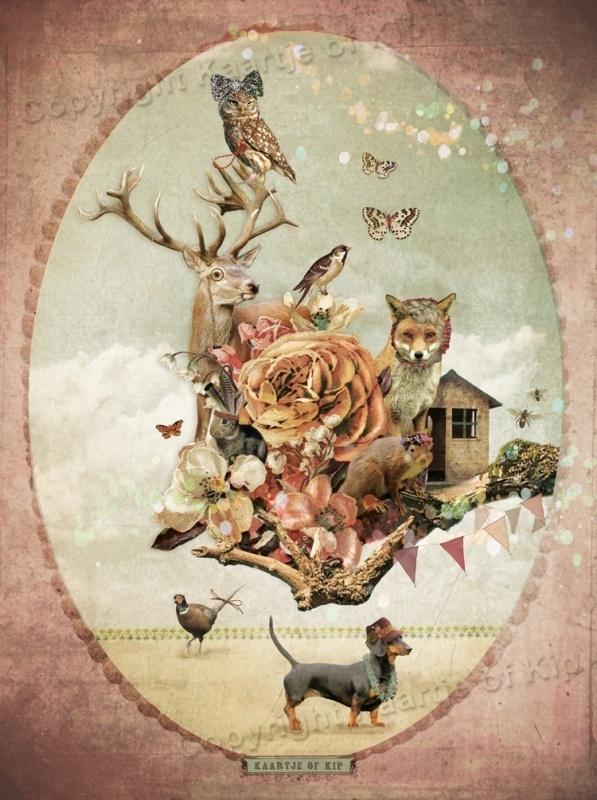 Wondere Wereld poster 30x40 cm met gedicht