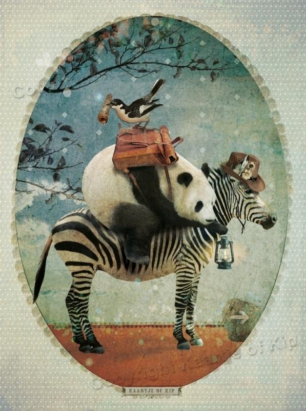 XXL Panda poster 50x70 cm met gedicht