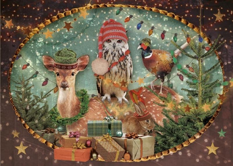 """""""Kerstgezelschap"""" - 8 stuks"""