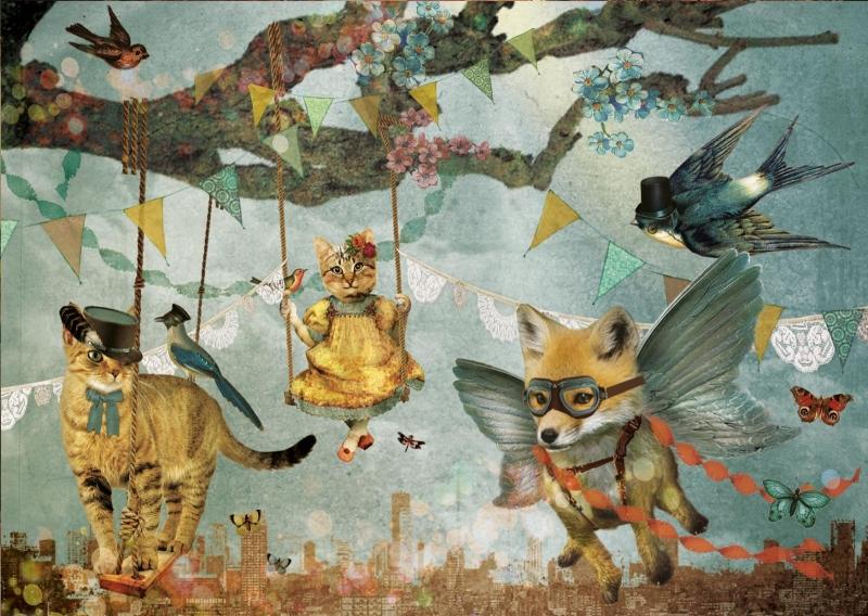 Jubileumkaart 3- Feest in de lucht