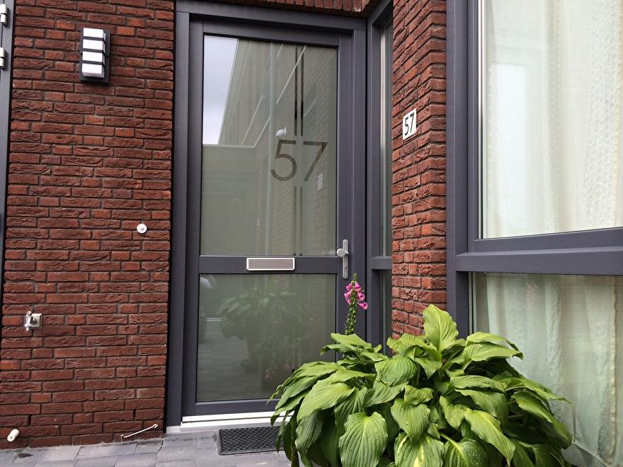 raamfolie voordeur huisnummer