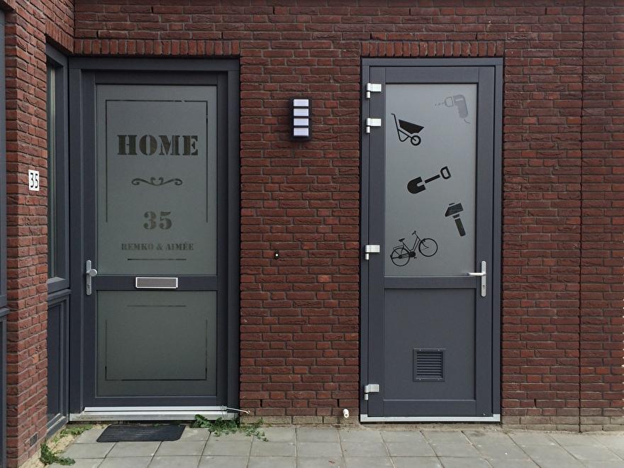raamfolie voordeur op maat