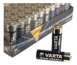 Batterij Varta AA LR06 penlite High Ennergy, doos à 40 stuks