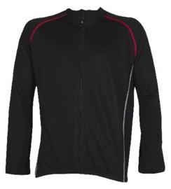 Fietsjack winter Fastrider One maat S zwart/rood