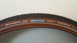 Buitenband Schwalbe Fat Frank 28x2.00 50-622 BRUIN / ZWART