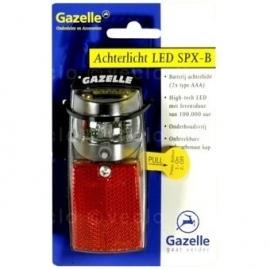 Achterlicht Gazelle SPX-B LED op batterijen