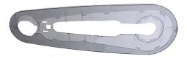 Kettingkast Batavus / Sparta Multi boven- en onderbak TRANSPARANT