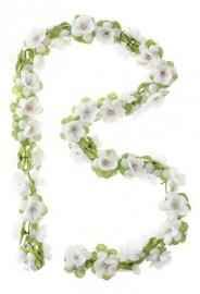 Bloemenslinger Basil Flower Garland Wit