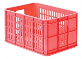 Krat kunststof Basil Crate S FLUOR KORAAL / ROZE 25 liter