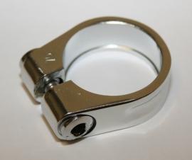 Zadelpenklem Gazelle 35,2 mm zilver, voor aluminium frames
