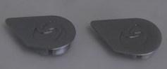 Crankdop Sparta SP4, zilver, per stuk