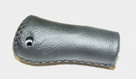 Handvat Gazelle aero leer ZWART rechts 105mm