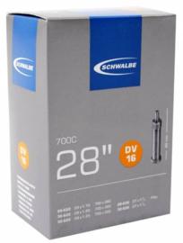 Binnenband Schwalbe DV16 28x 1 5/8x1 1/8 + 1 1/4 28/32-622  Hollands ventiel