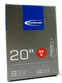 Binnenband Schwalbe SV6 20x1 1/8 20x 1 3/8 28/40-406 Frans ventiel