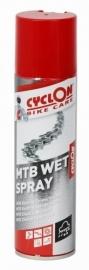 Smeermiddel Cyclon MTB wet spray spuitbus 250 ml