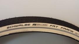 Buitenband Schwalbe Fat Frank 28x2.00 50-622 WIT / ZWART